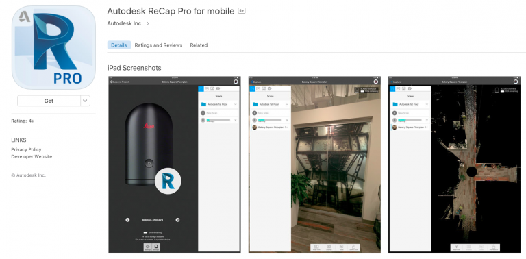 Reality Capture : ReCap Pro for Mobile App 2