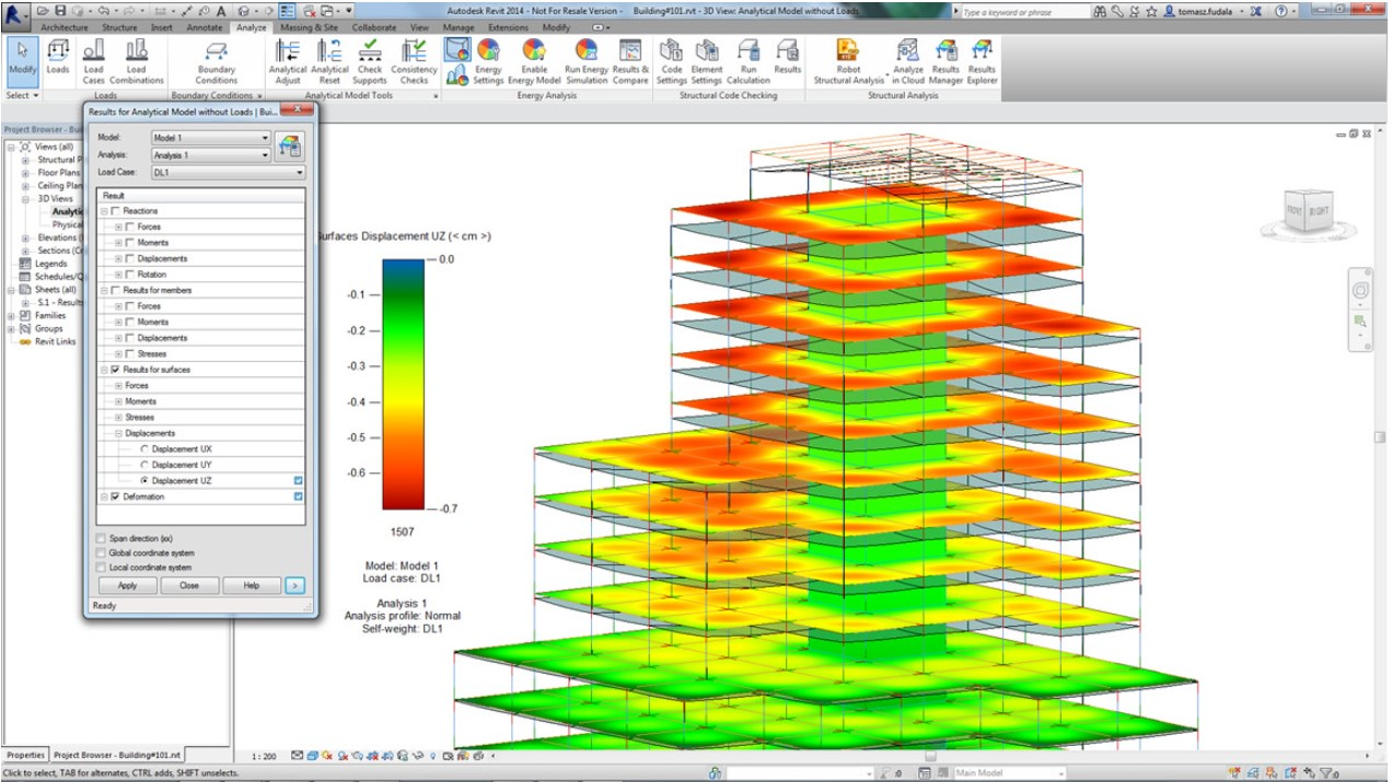 Synergysoft : Autodesk Structure Analysis for Revit